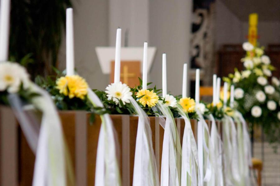 Hochzeitsdekoration Leverkusen Brautstrauss Kirchendeko